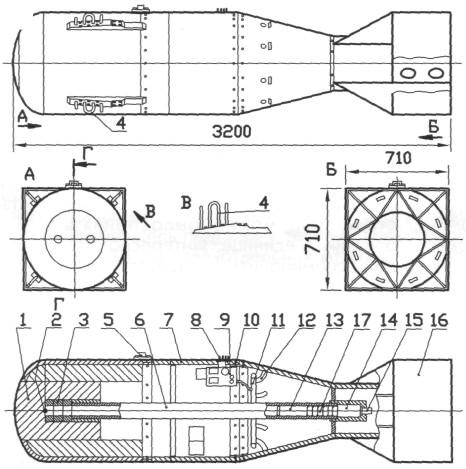 Схема атомной бомбы Mk.l