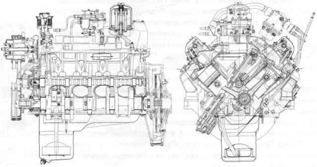 Двигатель ЗИЛ-375 автомобиля