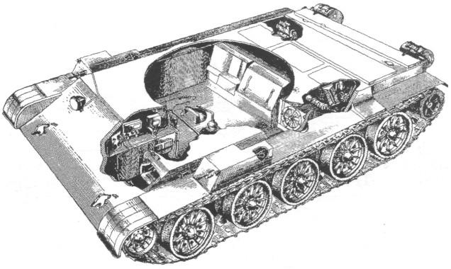 и в башне танка Т-54 обр.