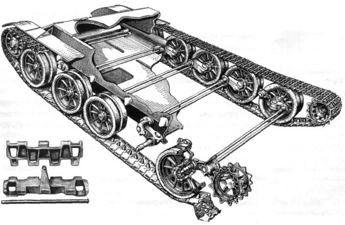 Ходовая часть танка Т-54 обр.