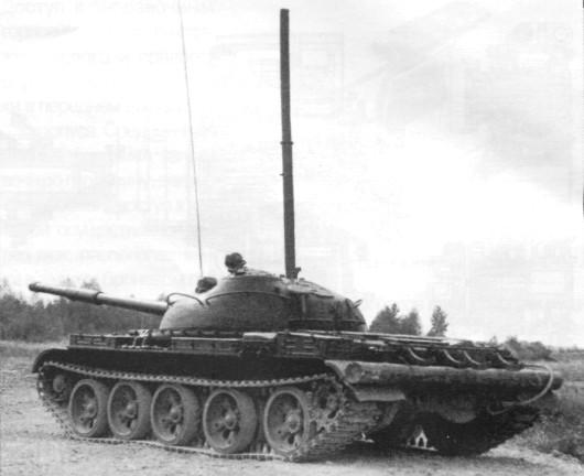 Танк Т-62 с установленным